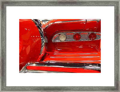 1959 Edsel Corsair Convertible . Red . 7d9356 Framed Print by Wingsdomain Art and Photography