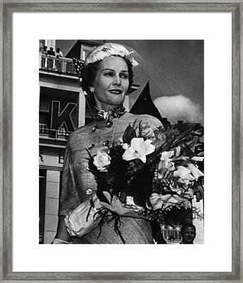 1959 Us Presidency.  Second Lady Framed Print by Everett