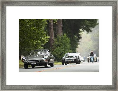 1961 Jaguar E-type 3.8 Litre Fixed Head Coupe Framed Print by Jill Reger