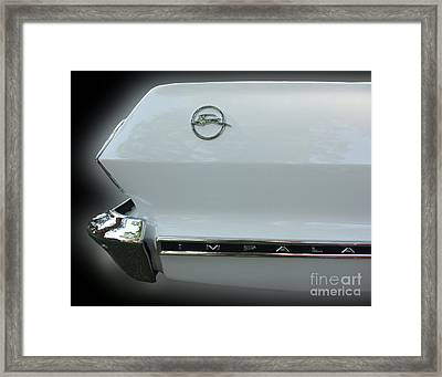 1963 Chevy Impala Framed Print by Peter Piatt