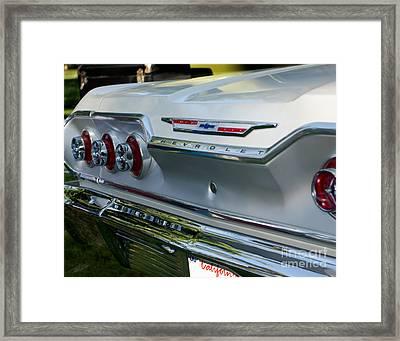 1963 Chevy Impala Taillights Framed Print by Peter Piatt