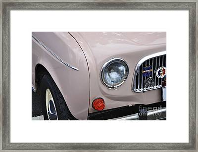 1963 Renault R4 - Headlight And Grill Framed Print by Kaye Menner