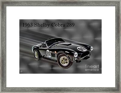 1963 Shelby Cobra 289 Framed Print by Tommy Anderson