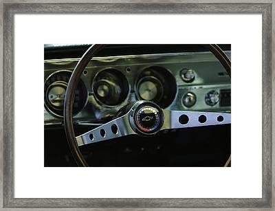 1965 Chevrolet Chevelle Malibu Ss Steering Wheel Framed Print by Jill Reger