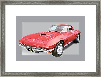 1967 Chevrolet Corvette Framed Print by Alain Jamar