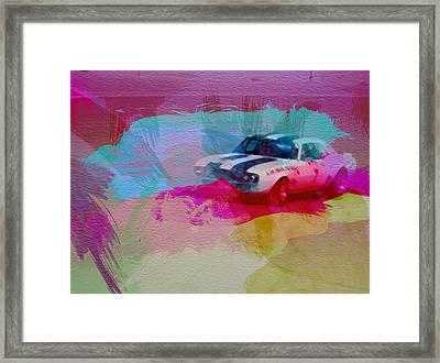 1968 Chevy Camaro Framed Print by Naxart Studio