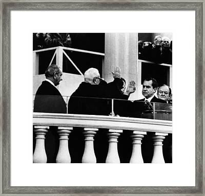 1969 Nixon Inauguration.  From Left Framed Print by Everett