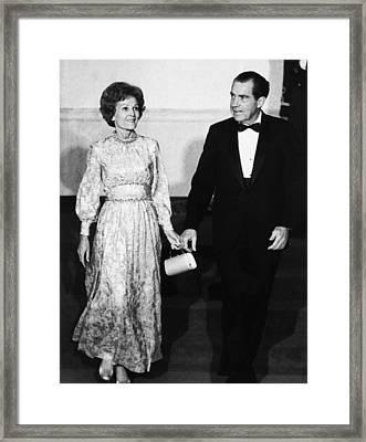 1969 Us Presidency.  First Lady Framed Print by Everett