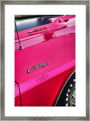 1970 Dodge Challenger Rt 440 Six Pack - Tickled Pink Framed Print by Gordon Dean II