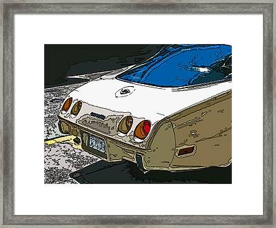 1970s Chevrolet Corvette Stingray Framed Print by Samuel Sheats
