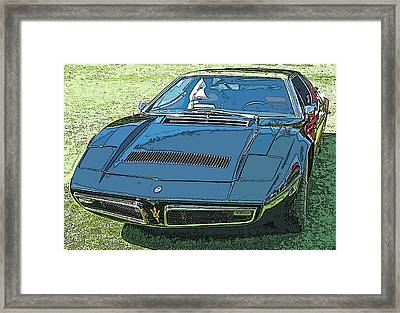 1970's Maserati Bora Framed Print by Samuel Sheats