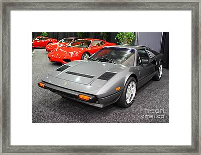 1984 Ferrari 308 Gts Qv . 7d9372 Framed Print by Wingsdomain Art and Photography