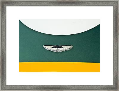 1993 Aston Martin Dbr2 Recreation Hood Emblem Framed Print by Jill Reger