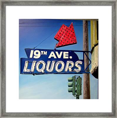 19th Ave Liquors Framed Print by Jim Gleeson