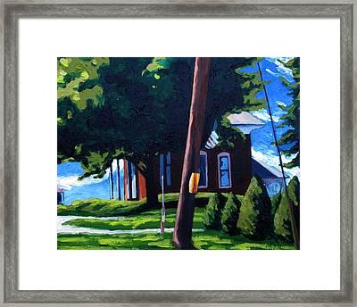 19th C. Corner Brick Framed Print by Charlie Spear