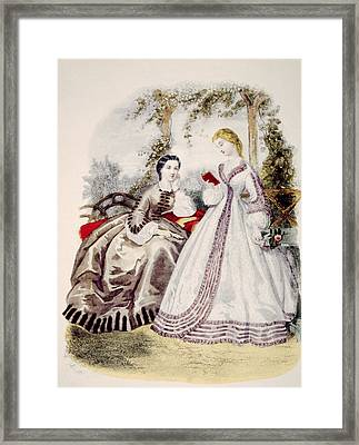 19th Century Fashion Illustration Framed Print by Everett
