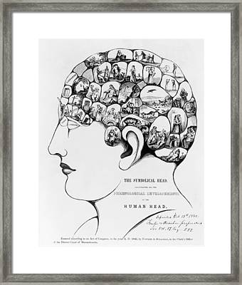 19th-century Phrenology Framed Print by Library Of Congress
