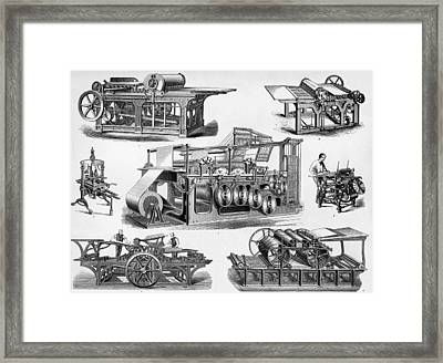 19th Century Printing Machines Framed Print by Sheila Terry