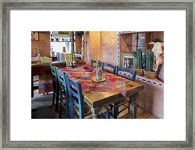 A Tex Mex Restaurant In The Town Framed Print by Jaak Nilson