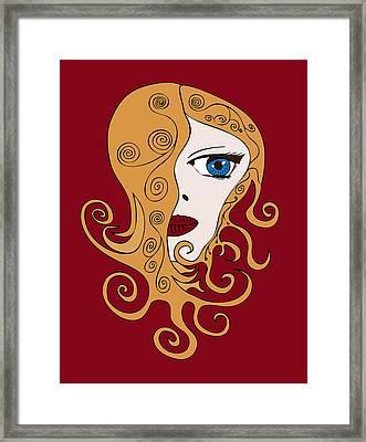 A Woman Framed Print by Frank Tschakert