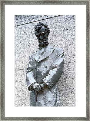 Abraham Lincoln Statue Framed Print by Granger