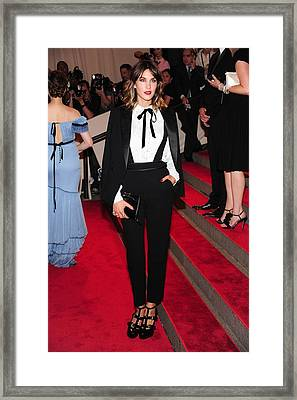 Alexa Chung Wearing A 3.1 Phillip Lim Framed Print by Everett