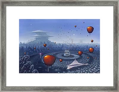 Alien Life Forms, Artwork Framed Print by Richard Bizley