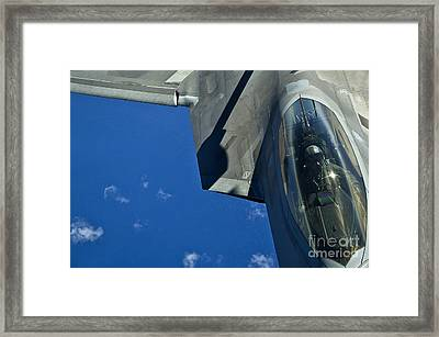 An F-22 Raptor In Flight Framed Print by Stocktrek Images