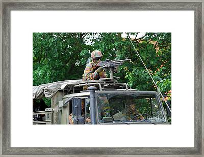 An Infantry Soldier Of The Belgian Army Framed Print by Luc De Jaeger