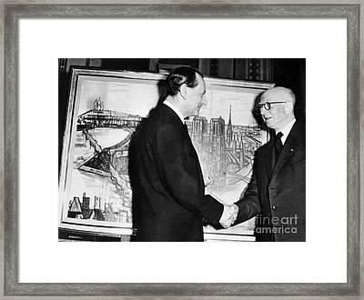Andre Malraux (1901-1976) Framed Print by Granger