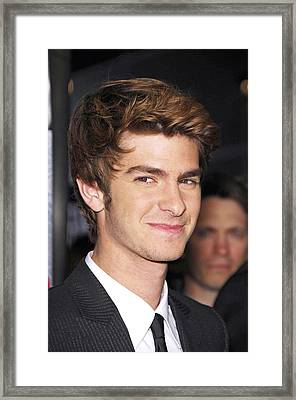 Andrew Garfield At Arrivals For The Framed Print by Everett