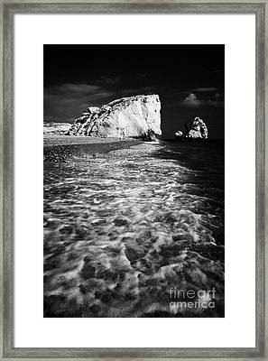 Aphrodites Rock Petra Tou Romiou Republic Of Cyprus Europe Framed Print by Joe Fox