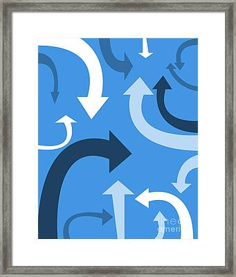 Arrows Framed Print by HD Connelly
