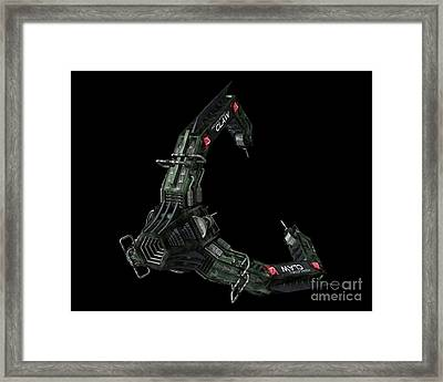 Artists Concept Of The Assimilators Framed Print by Rhys Taylor