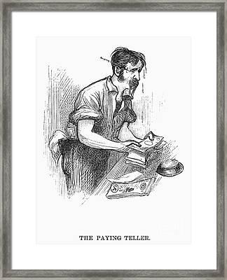 Bank Panic, 1873 Framed Print by Granger