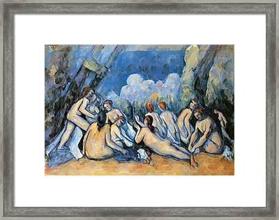 Bathers Framed Print by Paul Cezanne