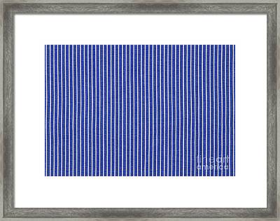 Blue And White Stripes Framed Print by Blink Images