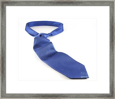 Blue Tie Framed Print by Blink Images