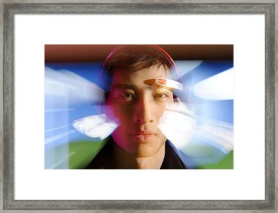 Brainwave-reading Headset Framed Print by Volker Steger