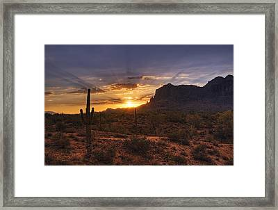 By Dawn's Early Light Framed Print by Saija  Lehtonen