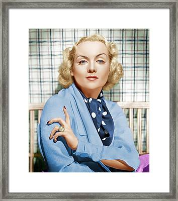 Carole Lombard, Ca. 1930s Framed Print by Everett