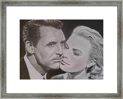 Cary Grant And Grace Kelly Framed Print by Mike OConnell