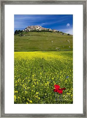 Castelluccio Umbria Framed Print by Brian Jannsen