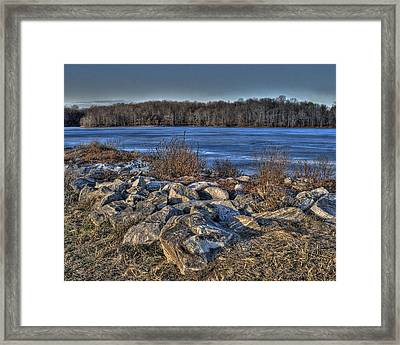 Centennial Lake Framed Print by Stephen Younts