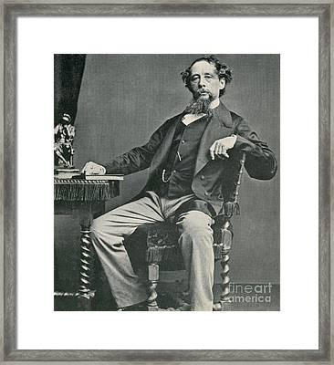 Charles Dickens, English Author Framed Print by Photo Researchers