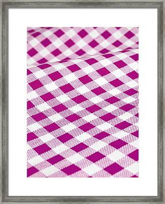Checked Tablecloth Framed Print by Maria Toutoudaki