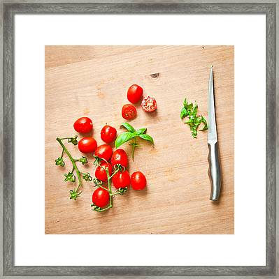 Cherry Tomatoes Framed Print by Tom Gowanlock