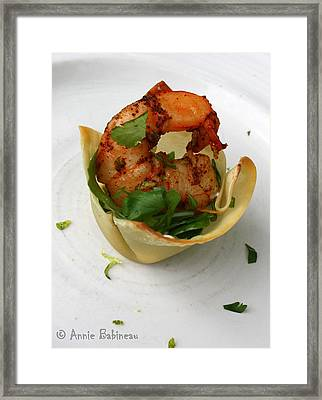 Chili Lime Shrimp Cups Framed Print by Anne Babineau