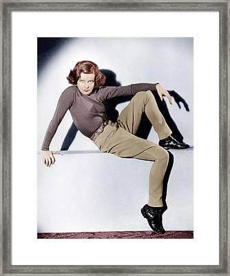 Christopher Strong, Katharine Hepburn Framed Print by Everett
