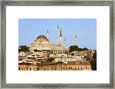City Of Istanbul Framed Print by Artur Bogacki